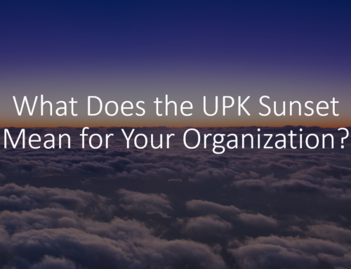 The UPK Sunset: Join this Month's UPK SIG Call