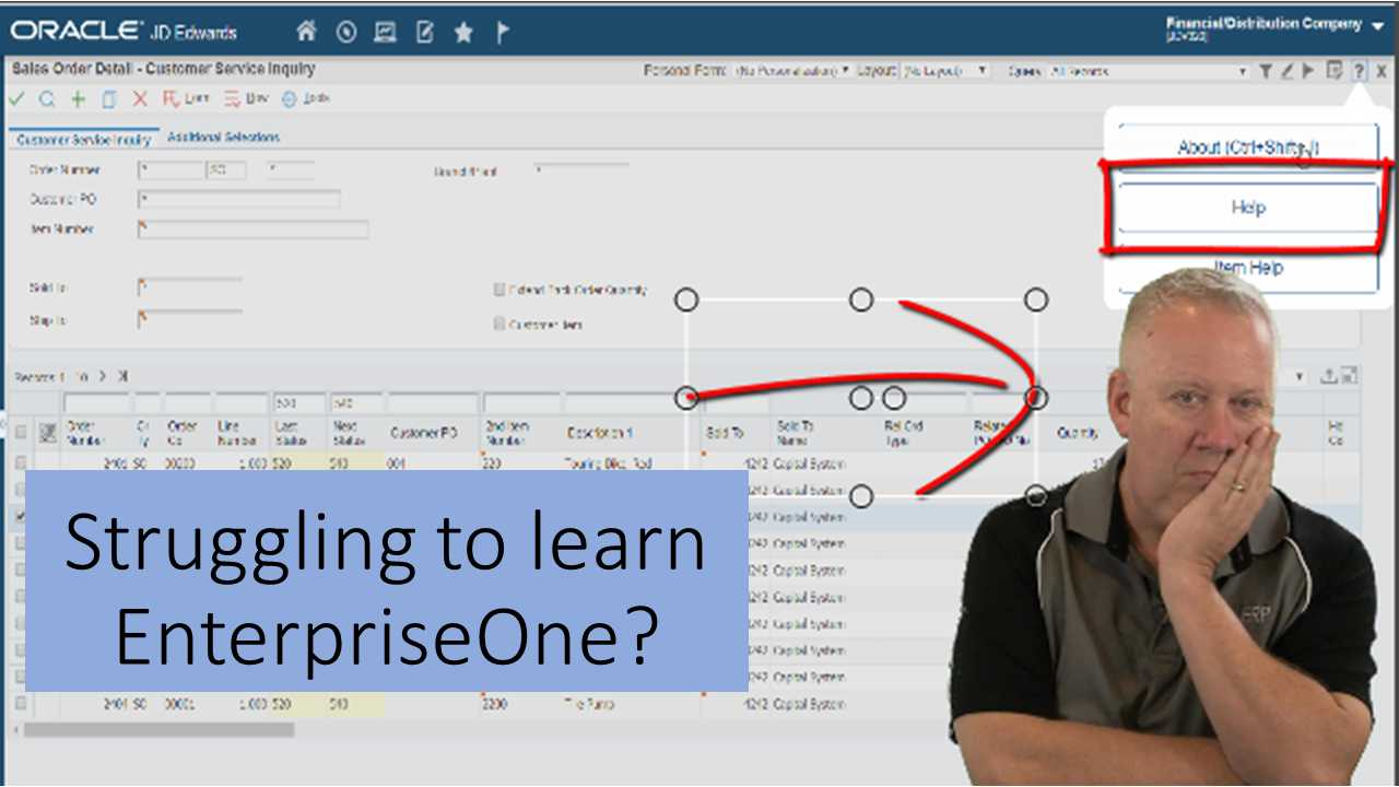 Need EnterpriseOne Training