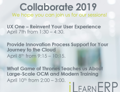 Where You Can Find iLearnERP at Collaborate 2019
